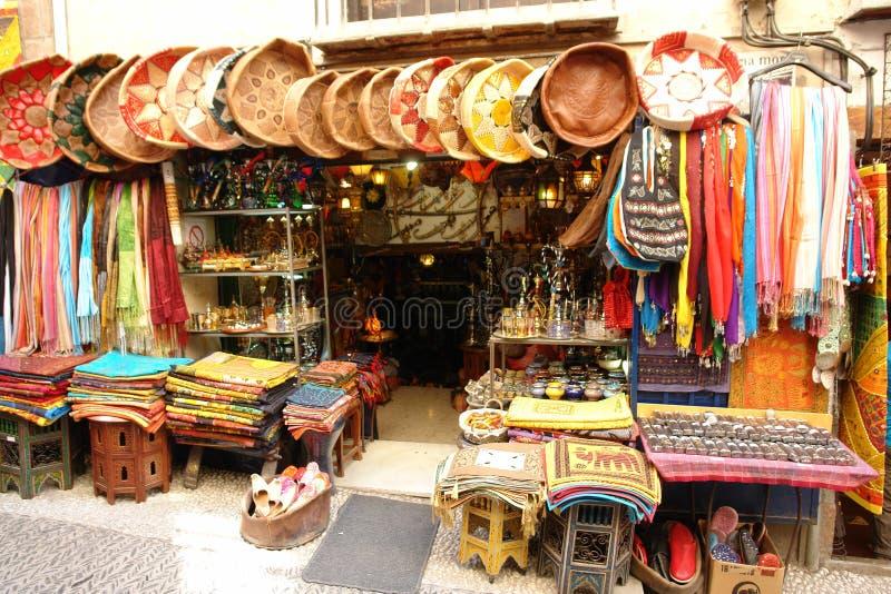 Arab souvenir shop royalty free stock image