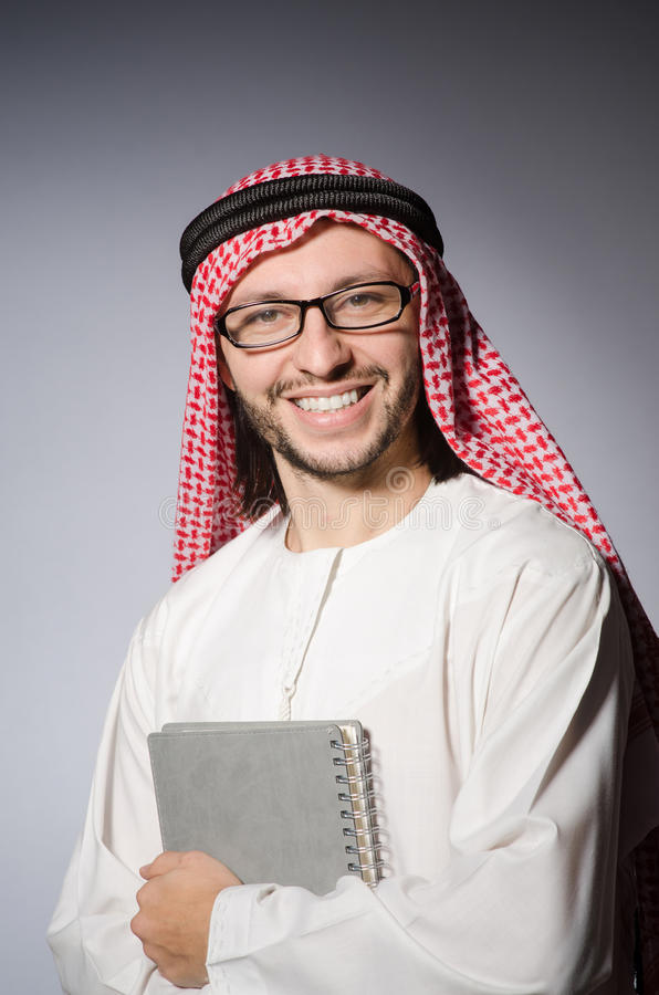 Download Arab student with book stock image. Image of businessman - 42204513