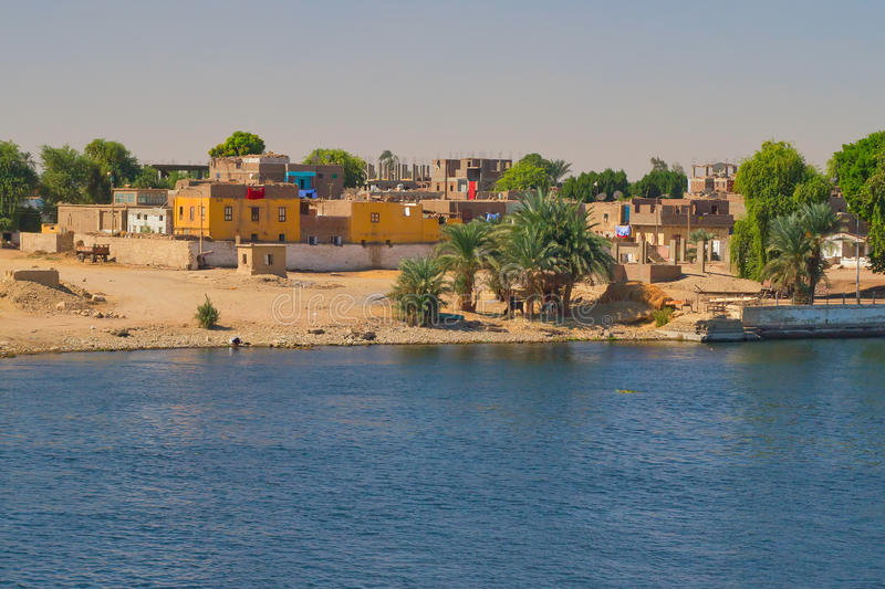 Arab Village On The Banks Of The Nile Stock Images