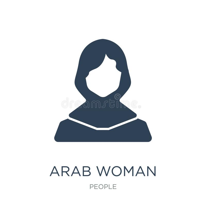 arab woman icon in trendy design style. arab woman icon isolated on white background. arab woman vector icon simple and modern royalty free illustration