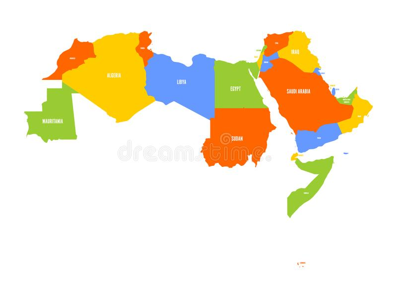 download arab world states political map of 22 arabic speaking countries of the arab