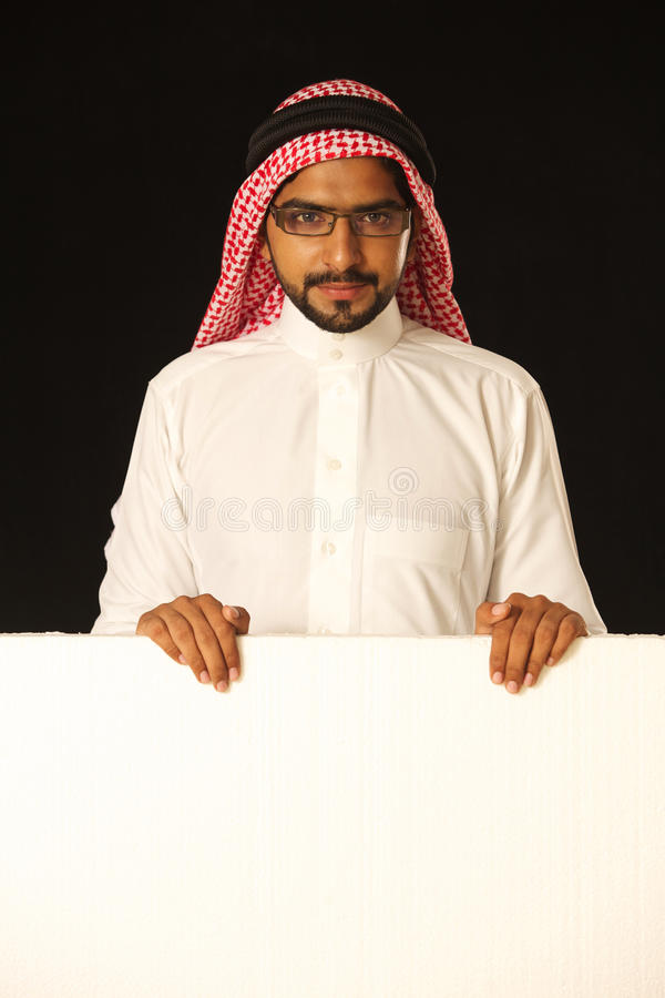 Download Arab Young Man With Ad Space. Stock Image - Image of jordan, middle: 21237469