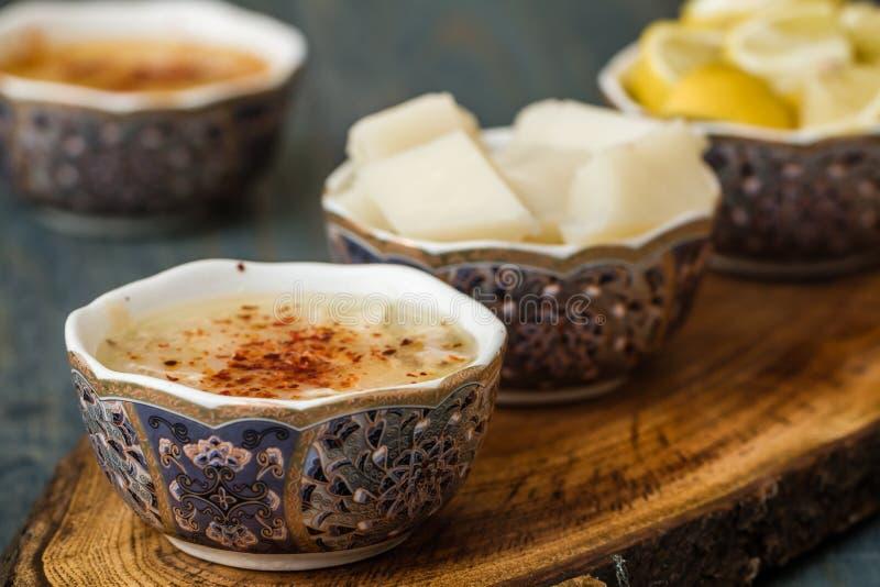 Arabasi-Suppe, Huhn basierte Suppe von der türkischen Küche lizenzfreies stockbild