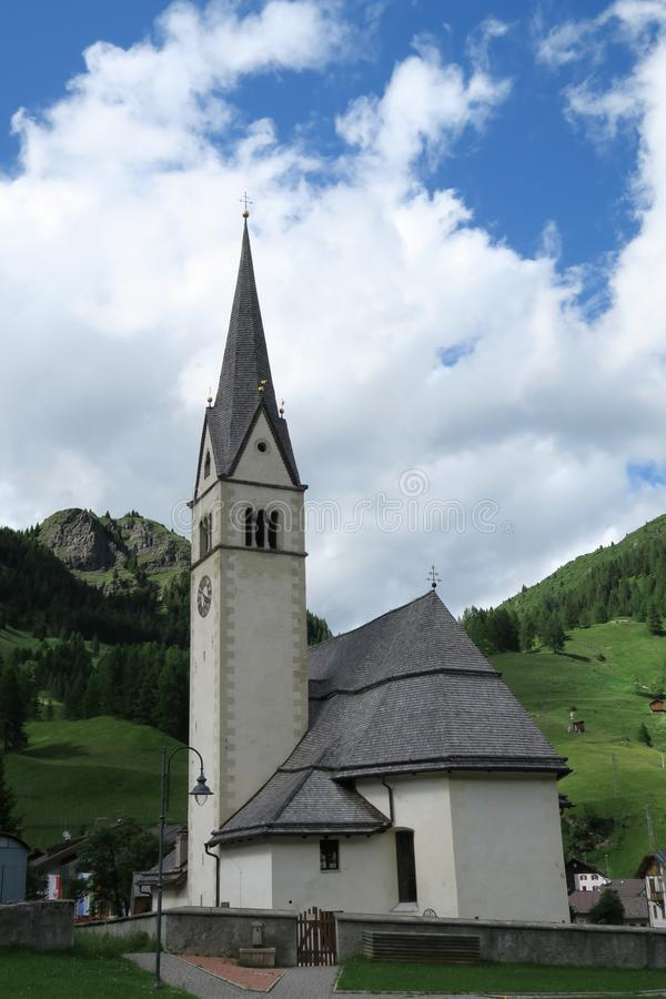 Arabba, iglesia principal fotos de archivo