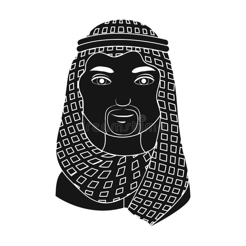 arabel Rasy ludzkiej pojedyncza ikona w czerń stylu symbolu zapasu ilustraci wektorowej sieci royalty ilustracja