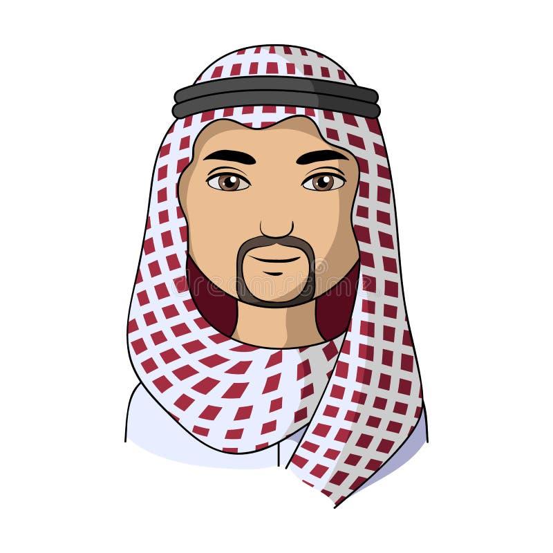 arabel Rasy ludzkiej pojedyncza ikona w kreskówka stylu symbolu zapasu ilustraci wektorowej sieci royalty ilustracja