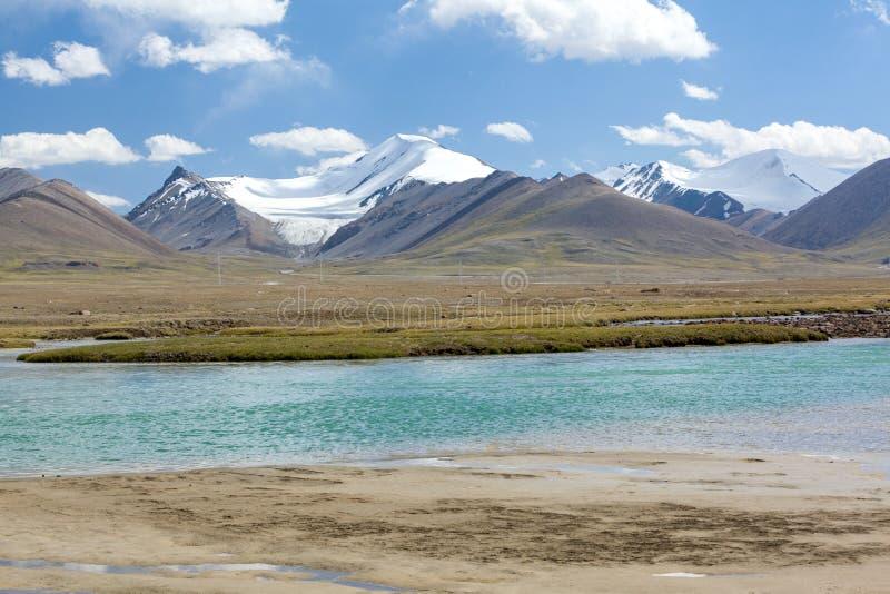 Arabel-Suu河在Kirgizstan 免版税库存照片