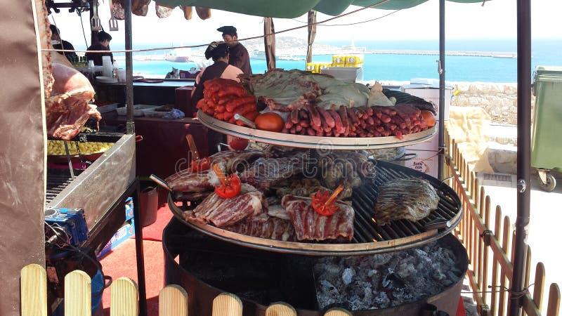 Araben marknadsför Ibiza Spanien arkivbild