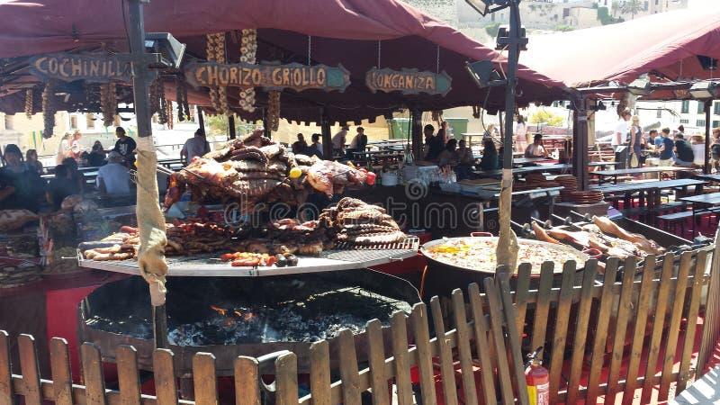 Araben marknadsför Ibiza Spanien arkivfoton