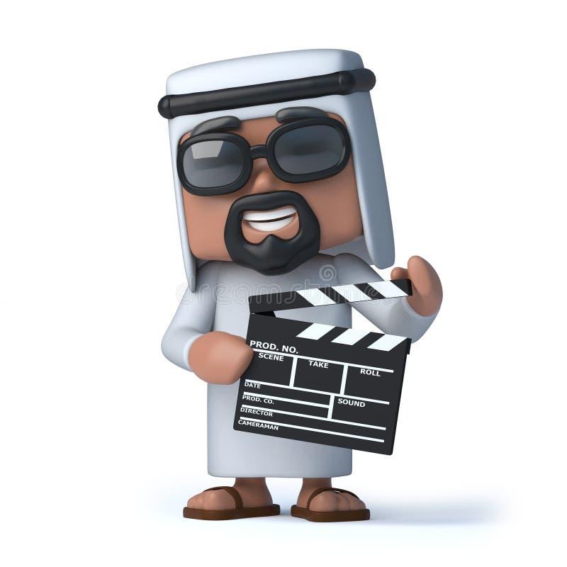 Araber 3d macht einen Film lizenzfreie abbildung