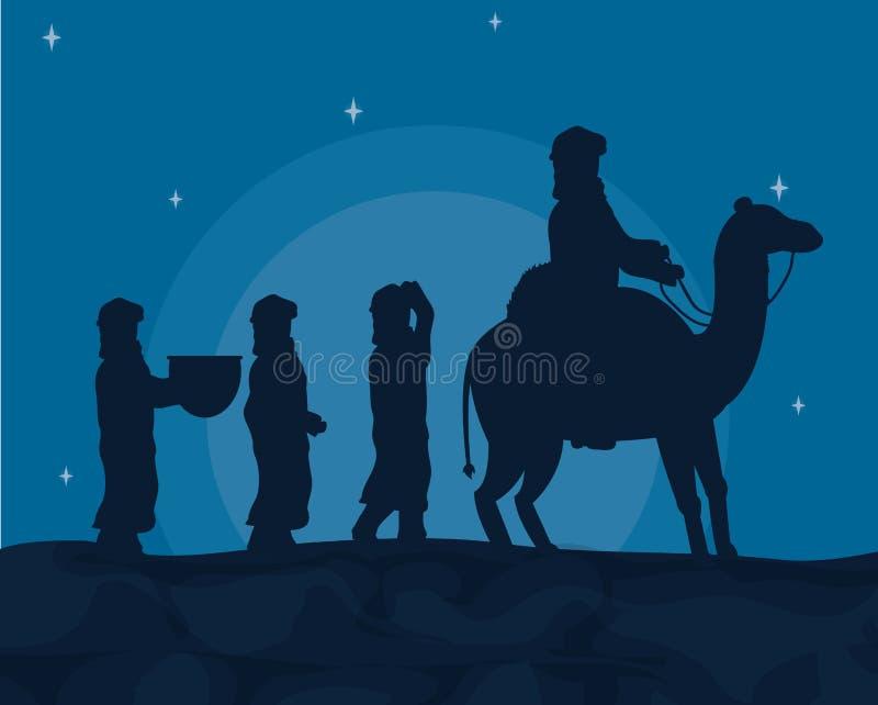 Araber mit Kamelen lizenzfreie abbildung