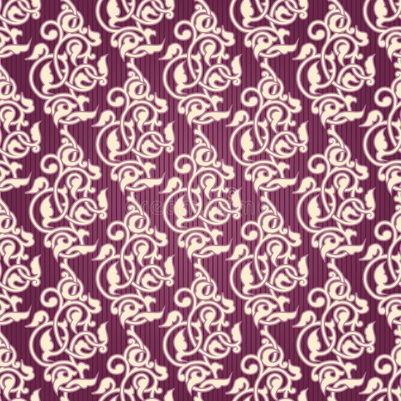 arabesk tapeta ornamentacyjna bezszwowa royalty ilustracja