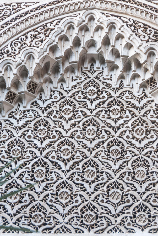 Arabeskowa filigree architektura zdjęcia stock