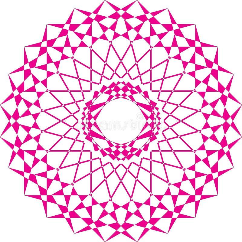 Arabeskowy carrousell magenta na przejrzystym tle ilustracji