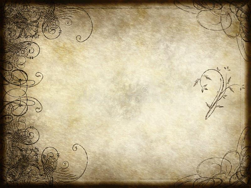 arabesque έγγραφο σχεδίου διανυσματική απεικόνιση