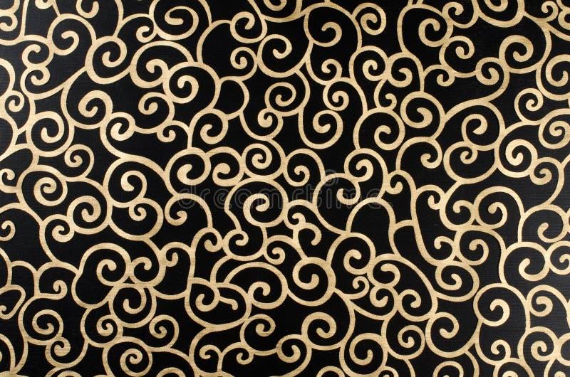 Arabesque abstrato dourado foto de stock