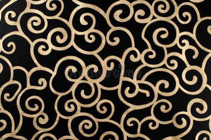 Arabesque abstrato dourado fotografia de stock royalty free