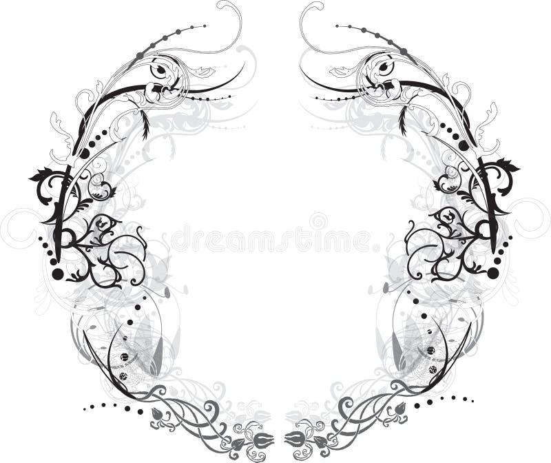 Arabesque Black and White Frame royalty free illustration