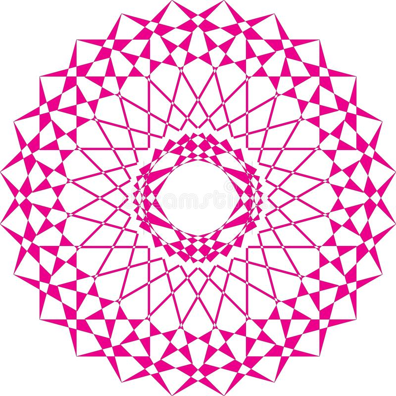 Arabesque carrousell magenta op transparante achtergrond stock illustratie