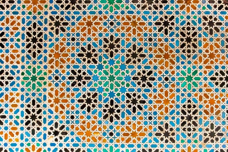 Arabesque com testes padrões de Granada, Espanha imagens de stock royalty free