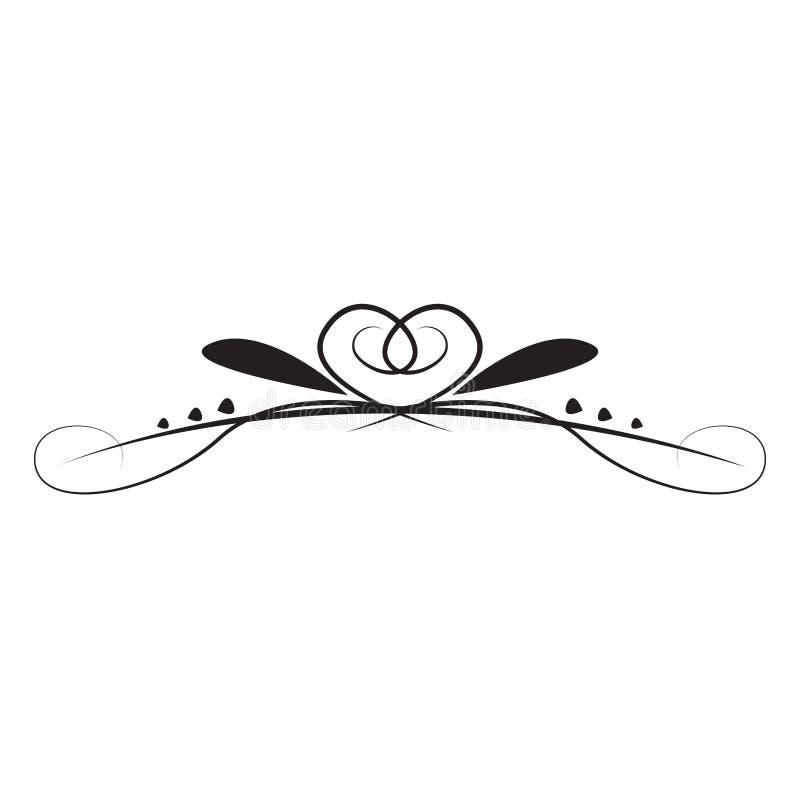 Arabesque d'annata isolato illustrazione vettoriale