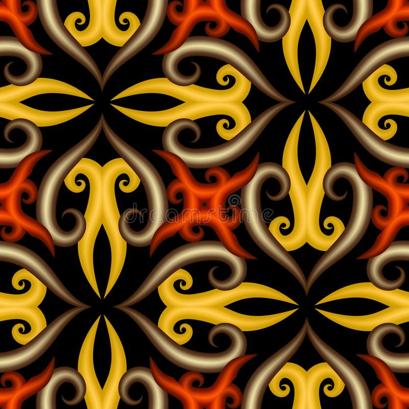Arabesque 3d vector naadloos patroon Achtergrond van de oppervlakte de sier Arabische stijl Herhaal oosterse achtergrond decorati royalty-vrije illustratie