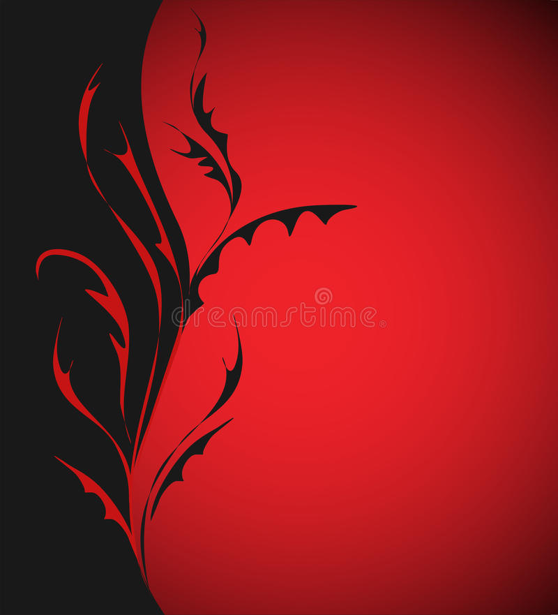 Download Arabesque On Dark Red Background Stock Vector - Image: 12975546