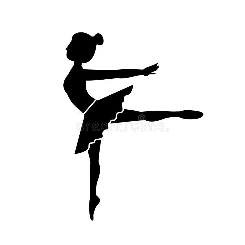 Arabesque de la actitud del bailarín de la silueta cuarto libre illustration