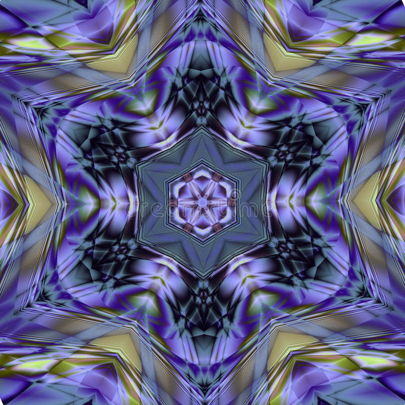 Arabesque do mosaico do majolica de Azulejo (Zellige) Testes padrões geométricos telhas vitrificadas Illustratio gráfico detalhad ilustração do vetor