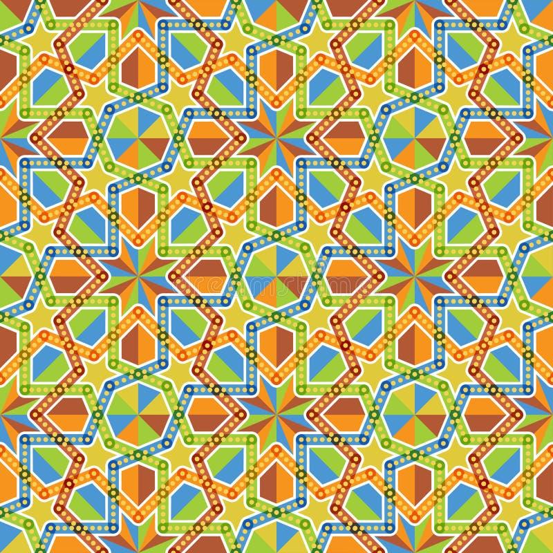 Arabesque Geometrische Patronen stock illustratie