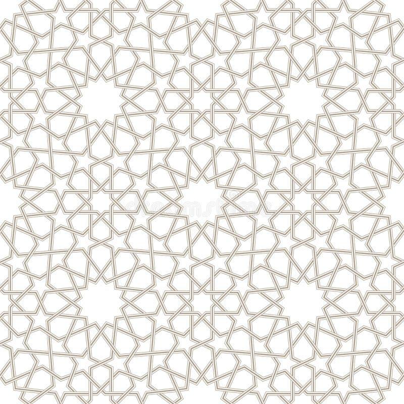 Arabesque Gray Pattern con fondo bianco royalty illustrazione gratis