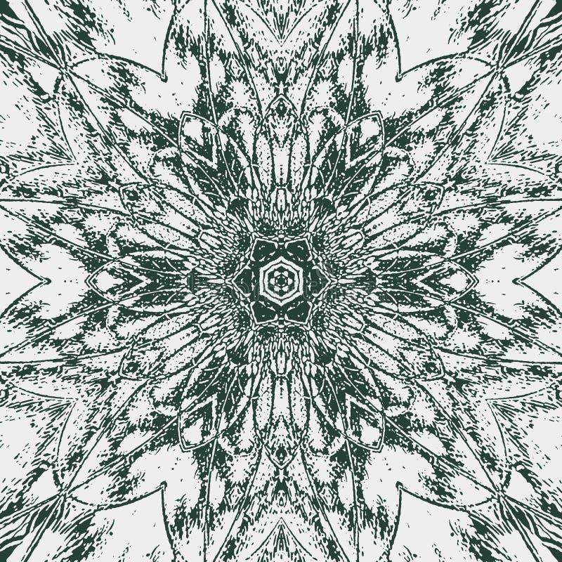 arabesque Icono colorido real retro en el contexto blanco Fondo blanco de la teja libre illustration