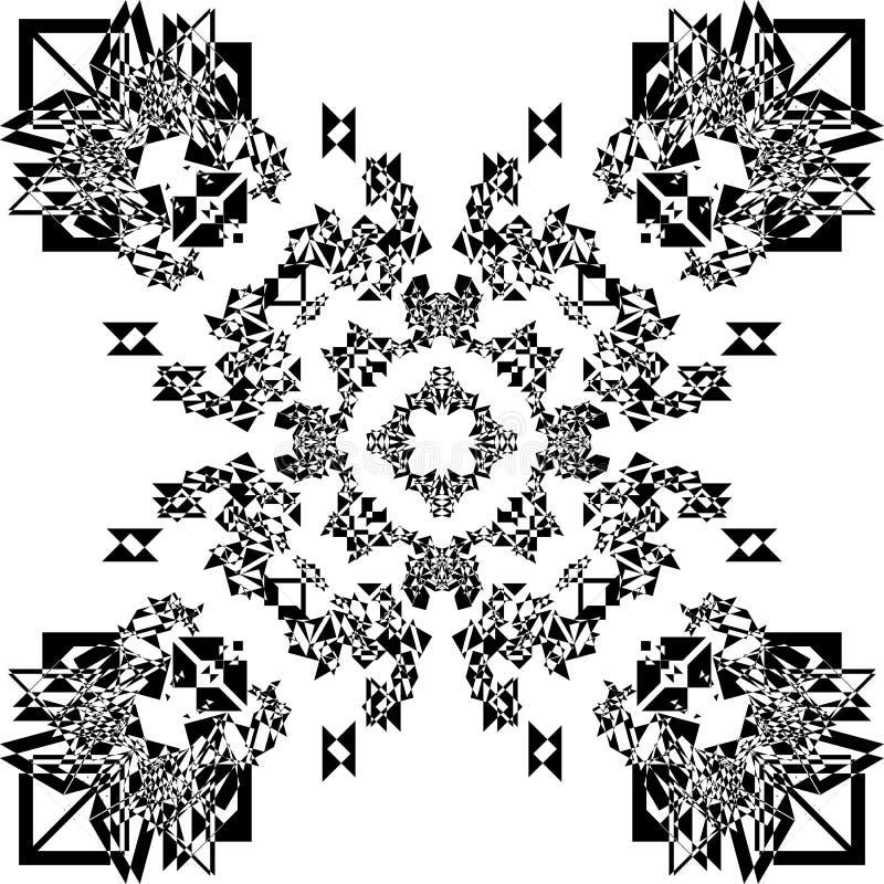 Arabesque múltiplo da perspectiva do teste padrão abstrato ilustração stock