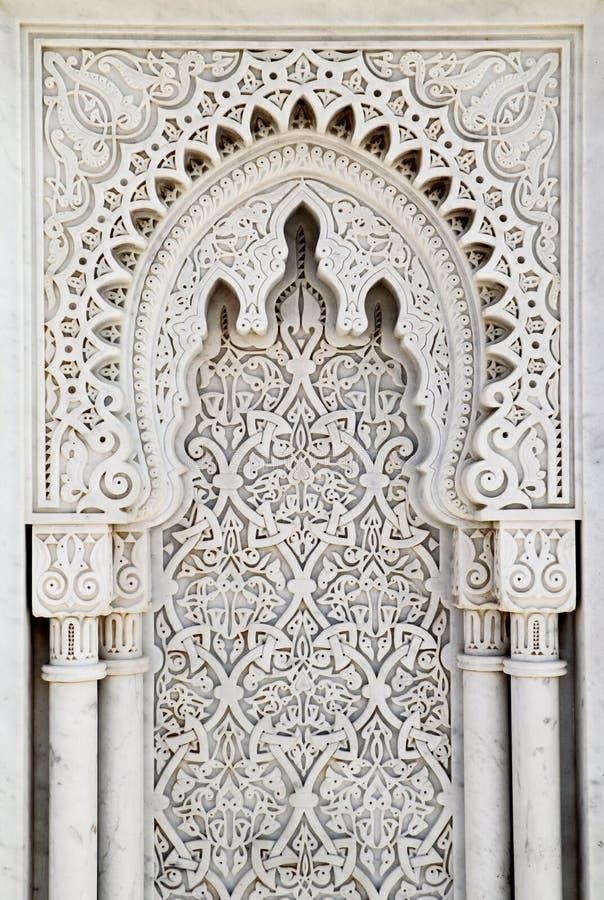 Arabesque marmeren paneel royalty-vrije stock fotografie