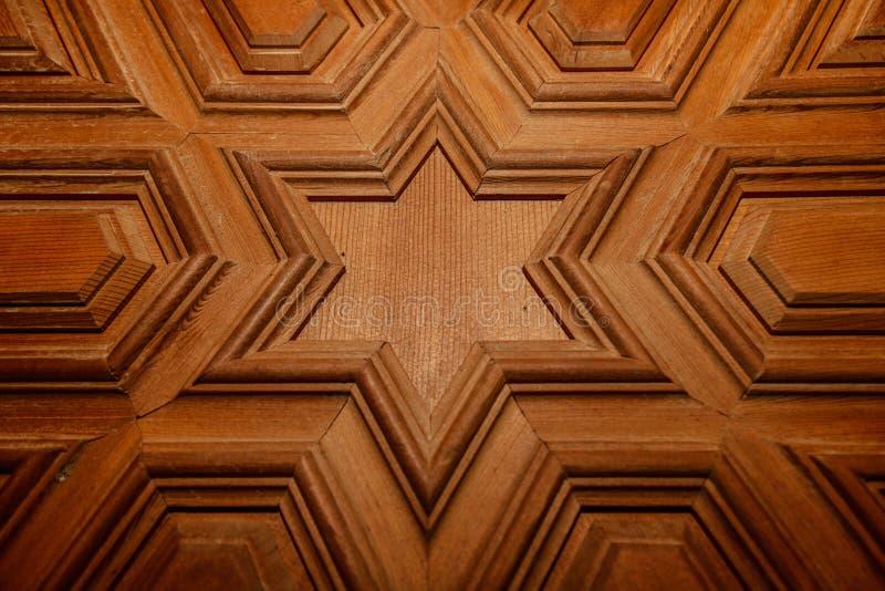Arabesque marroquino madeira cinzelada fotos de stock royalty free