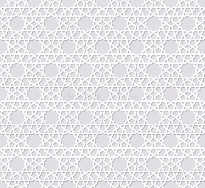 Arabesque naadloos patroon met sterren stock illustratie