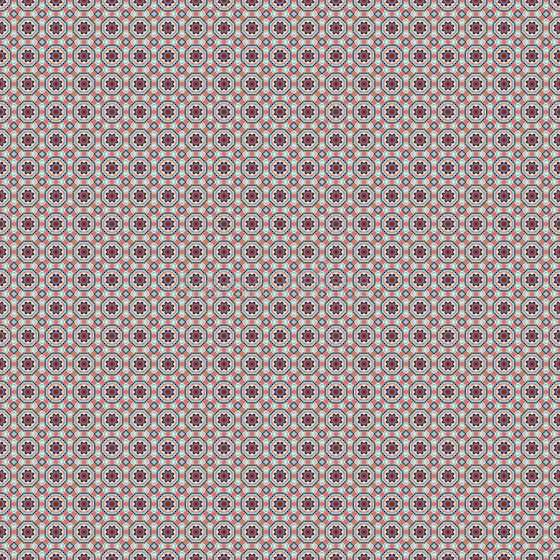 Arabesque Pattern. Fabric print. Geometric pattern in repeat. Seamless background, mosaic ornament, ethnic style. stock illustration
