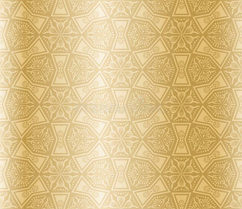 Arabesque sans joint d'or illustration libre de droits
