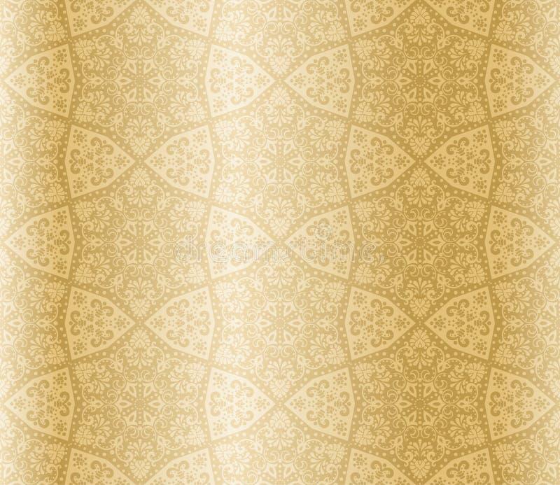 Arabesque sans joint en forme d'étoile de sépia illustration de vecteur