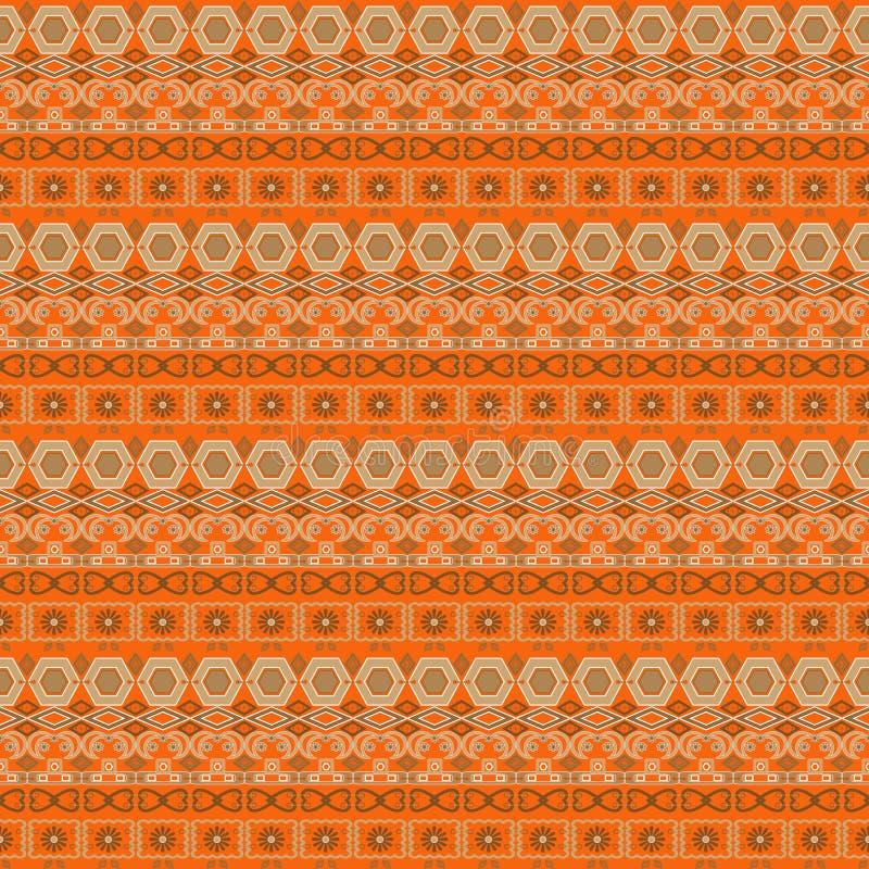 Arabesque senza cuciture orientale del damasco del modello ed elementi floreali t illustrazione vettoriale