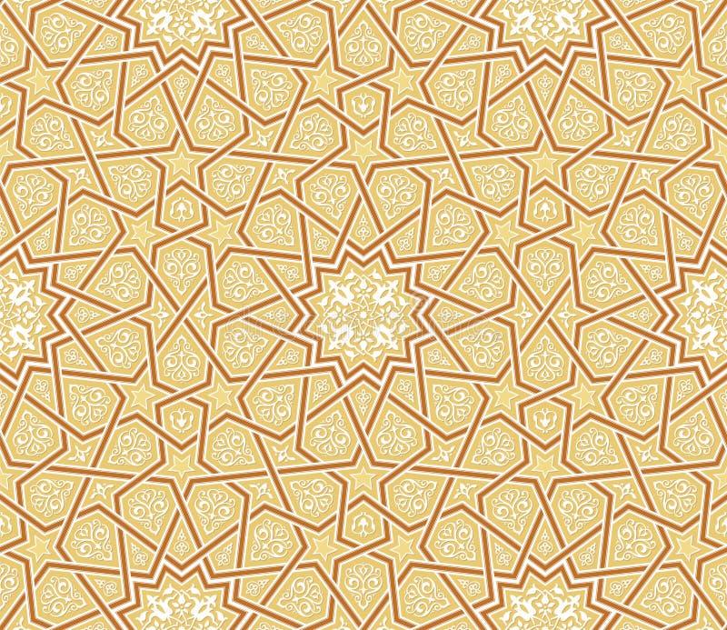 Arabesque Star Ornament Brown background royalty free illustration