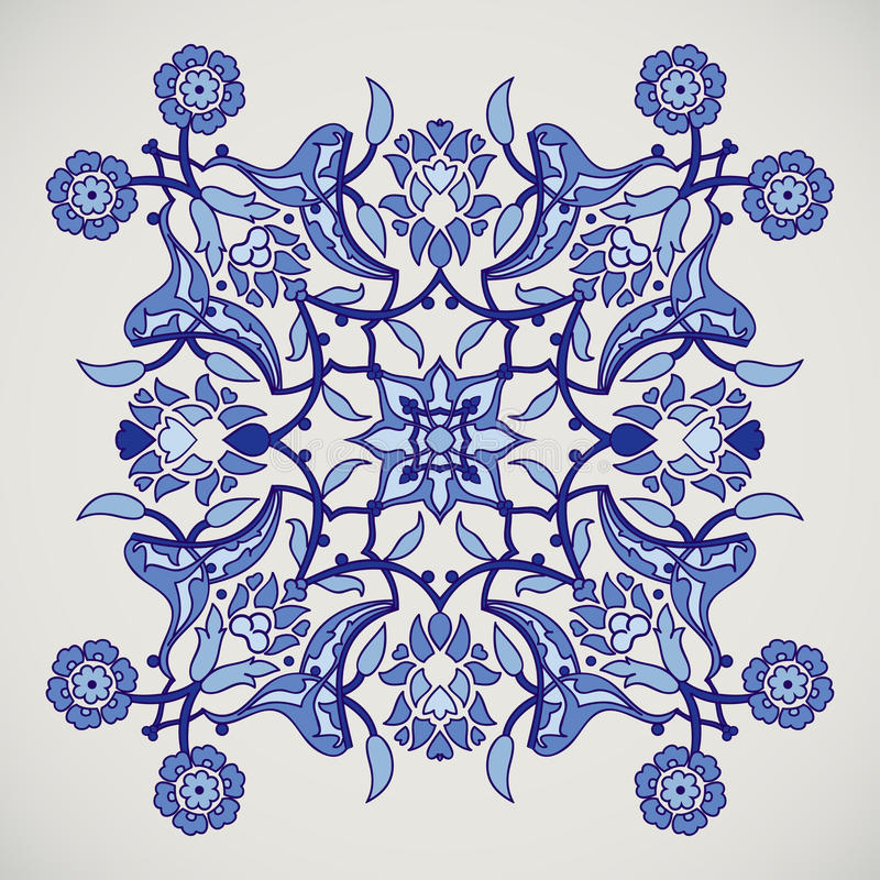 Arabesque vintage elegant floral decoration print for design template vector. Eastern style pattern. Ornamental illustration for. Invitation, greeting card vector illustration
