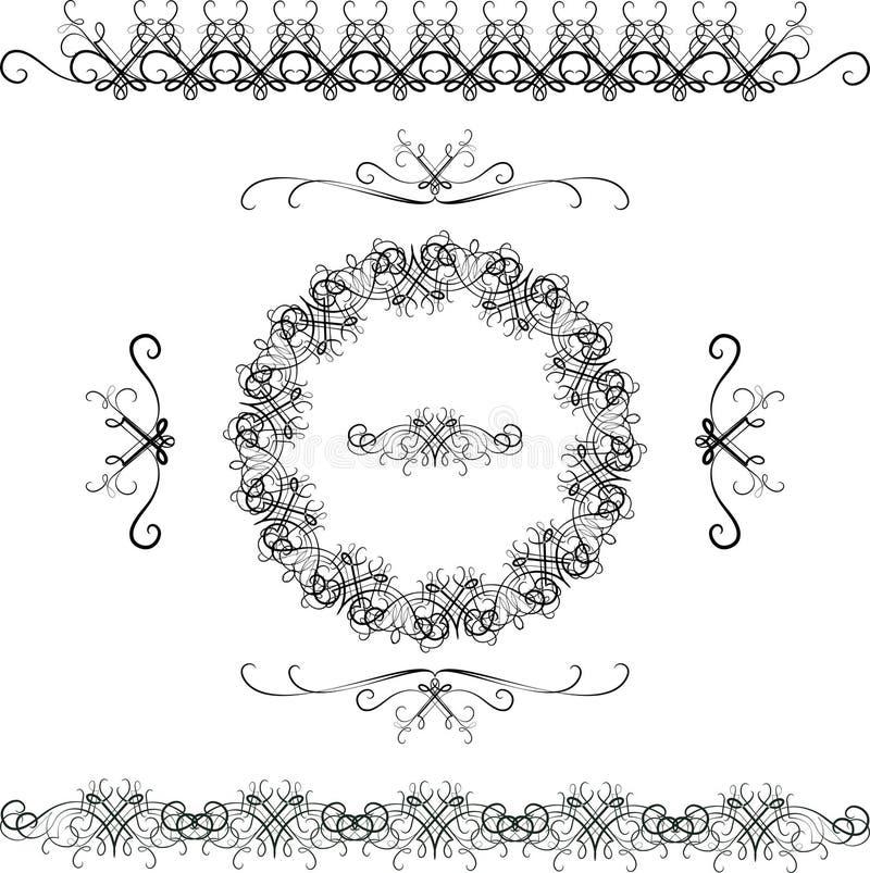 Arabesques i modern stil vektor illustrationer