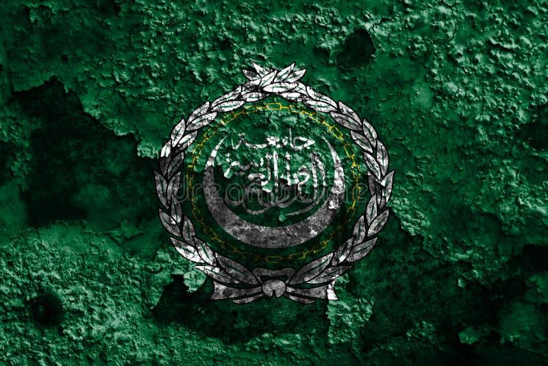 Arabförbundetgrungeflagga, regional organisation av arabiska stater vektor illustrationer