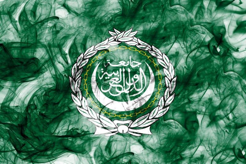 Arabförbundetrökflagga, regional organisation av arabiska stater stock illustrationer