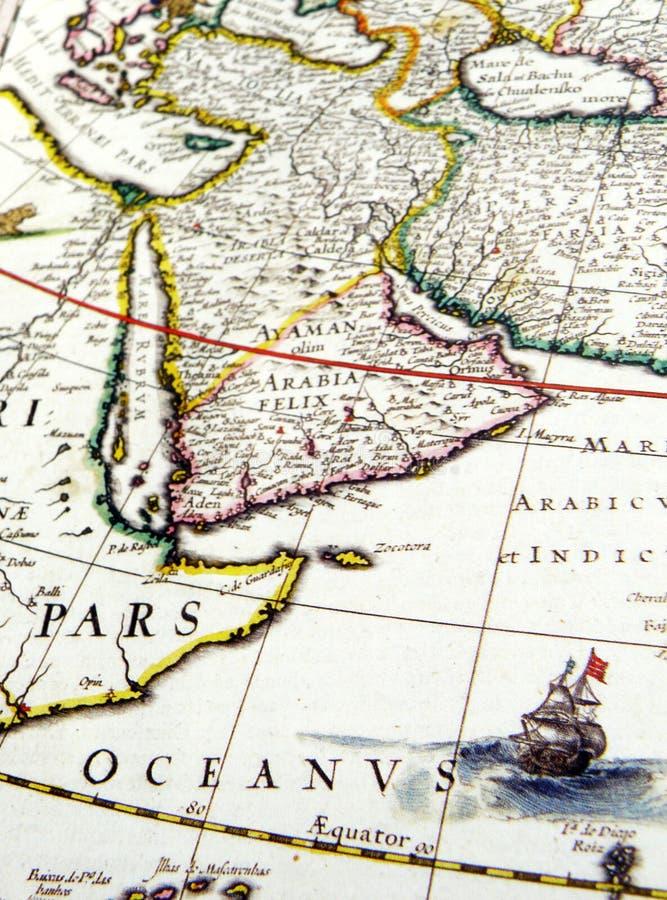 arabia antykwarska mapa zdjęcia royalty free