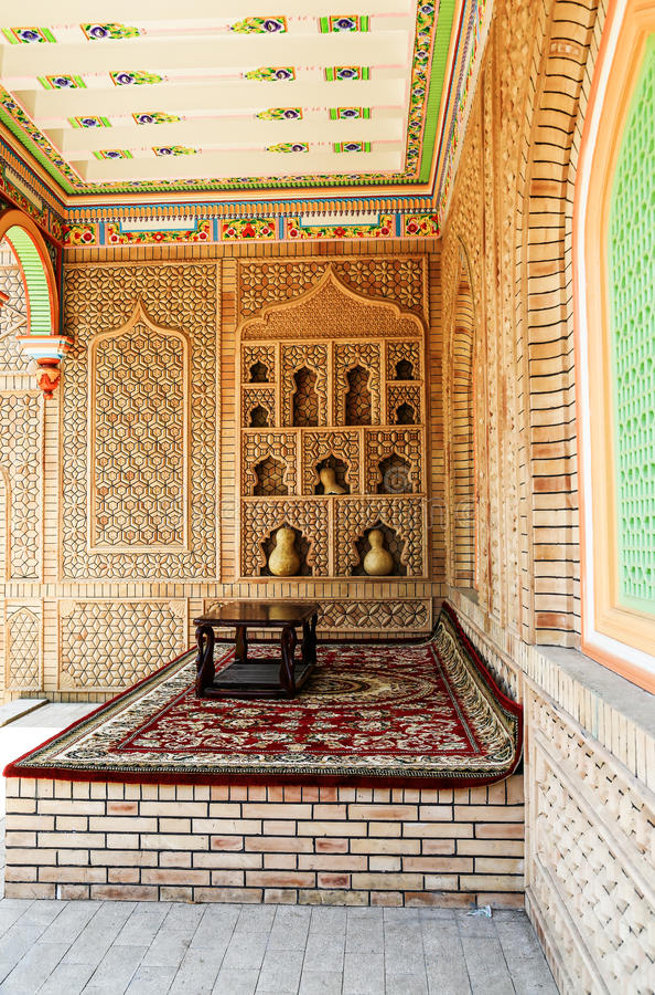 Arabia interior decoration stock photography