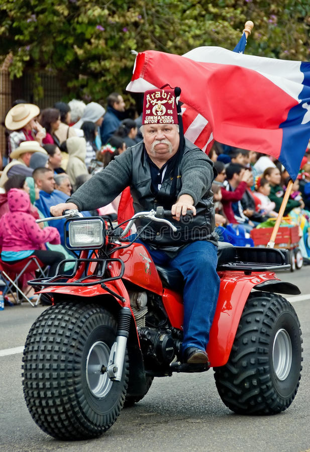 Arabia shriner in parade royalty free stock photo
