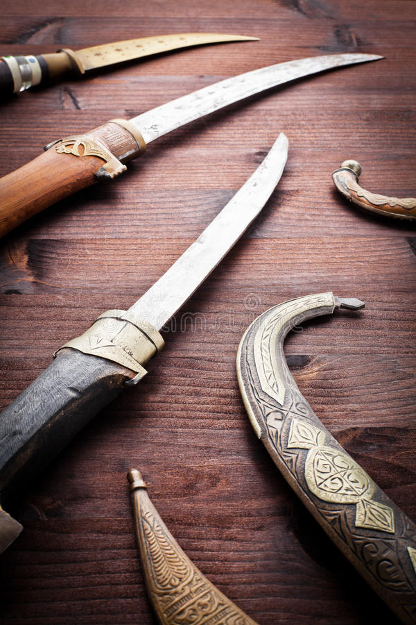 Download Arabian ancient daggers stock image. Image of security - 24092181