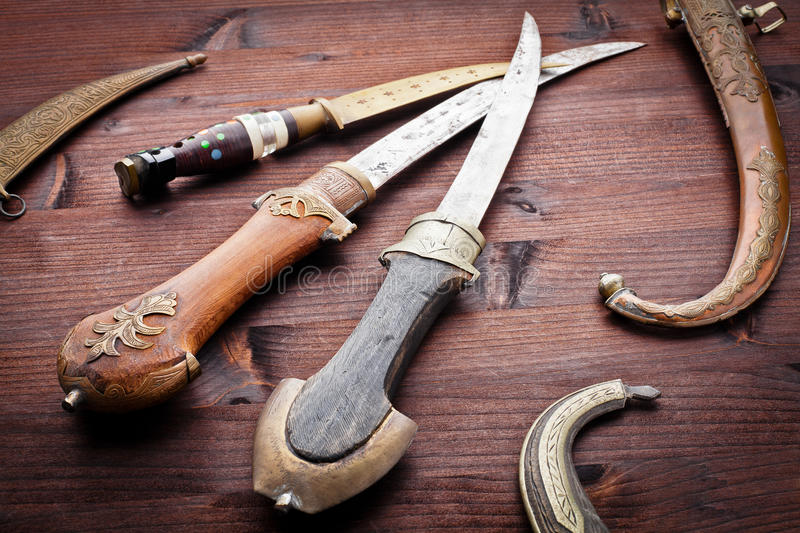 Download Arabian ancient daggers stock image. Image of kill, islam - 24092261